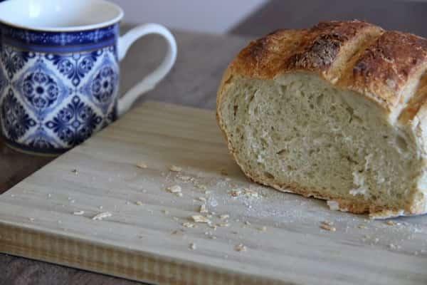 pan casero con amasadora